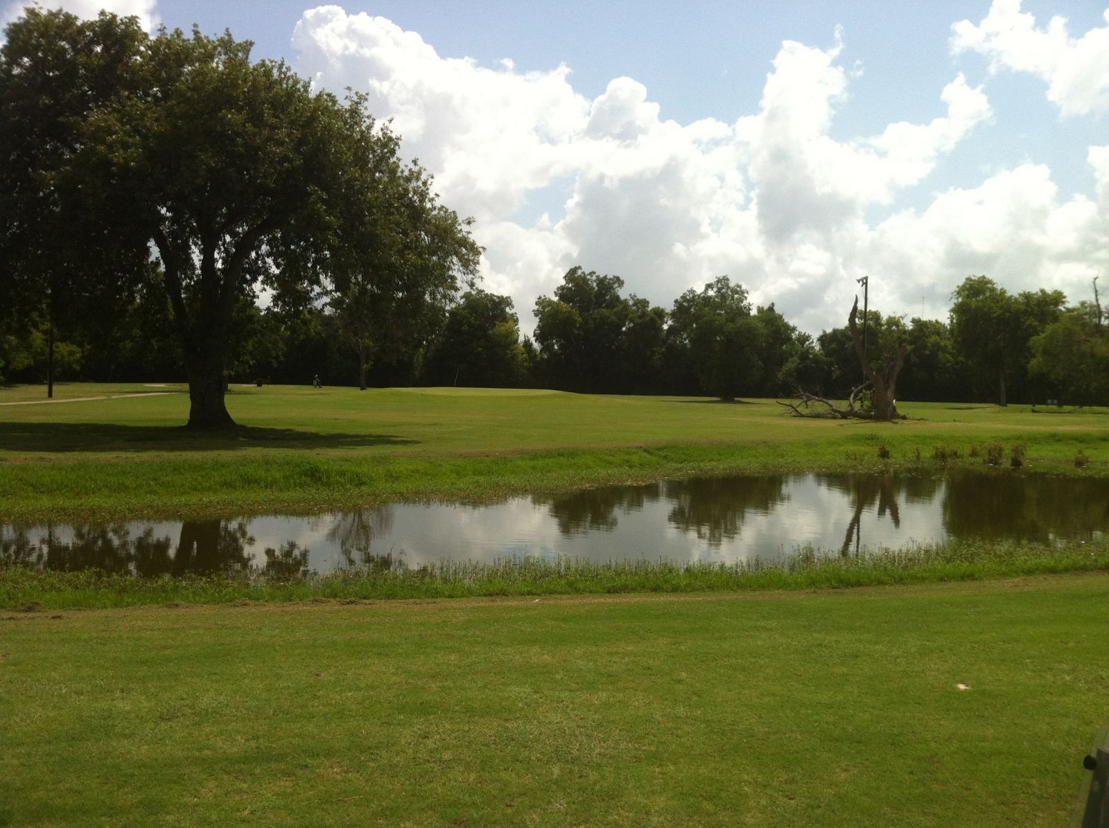A pond on the course at Hillcrest Golf Club
